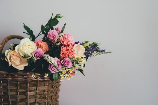 košík květin