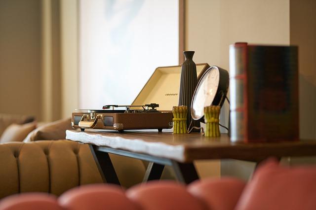 pohled na gramofon